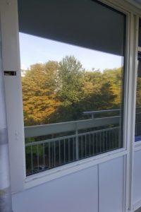 Spiegelfolie op raam buitenzijde